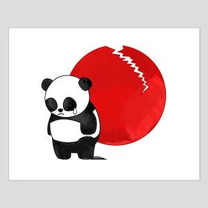 Sad Panda Bear Small Poster
