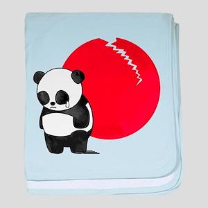 Sad Panda Bear baby blanket