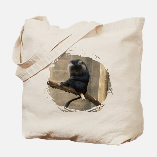 Lion-tailed macaque Tote Bag