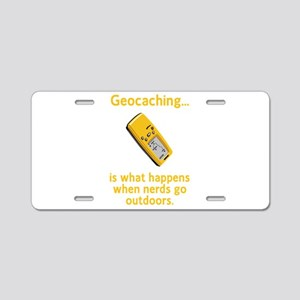 Geocaching Nerds Aluminum License Plate