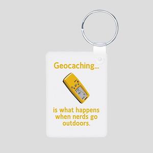 Geocaching Nerds Aluminum Photo Keychain