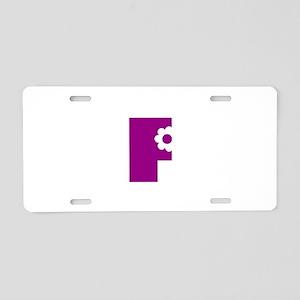 F Letter Aluminum License Plate