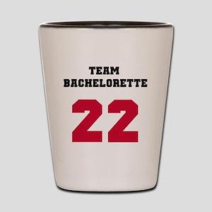 Team Bachelorette 17 Red Shot Glass