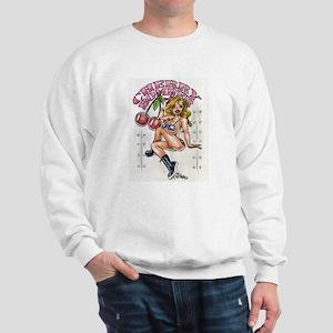 Cherry Bomber Nose Art Sweatshirt