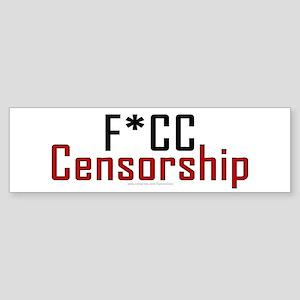 F*CC Censorship Bumper Sticker
