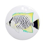 Chevron Butterflyfish Round Ornament
