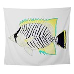 Chevron Butterflyfish Wall Tapestry