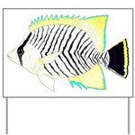 Chevron Butterflyfish Yard Sign