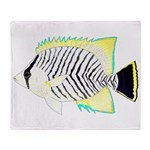 Chevron Butterflyfish Arctic Fleece Throw Blanket