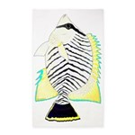 Chevron Butterflyfish Area Rug