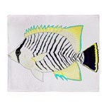 Chevron Butterflyfish Plush Fleece Throw Blanket
