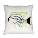 Chevron Butterflyfish Everyday Pillow