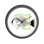 Chevron Butterflyfish Wall Clock