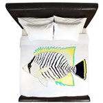 Chevron Butterflyfish King Duvet