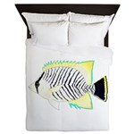 Chevron Butterflyfish Queen Duvet