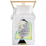 Chevron Butterflyfish Twin Duvet Cover