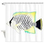 Chevron Butterflyfish Shower Curtain