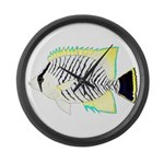 Chevron Butterflyfish Large Wall Clock