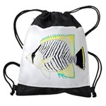 Chevron Butterflyfish Drawstring Bag