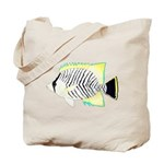 Chevron Butterflyfish Tote Bag