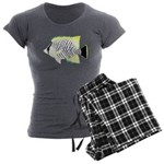 Chevron Butterflyfish Women's Charcoal Pajamas