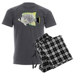 Chevron Butterflyfish Men's Charcoal Pajamas