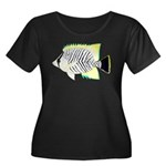 Chevron Butterflyfish Plus Size T-Shirt