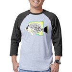 Chevron Butterflyfish Mens Baseball Tee