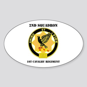 DUI - 2nd Sqdrn - 1st Cavalry Regt with Text Stick