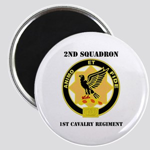 DUI - 2nd Sqdrn - 1st Cavalry Regt with Text Magne