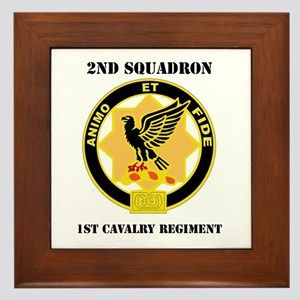 DUI - 2nd Sqdrn - 1st Cavalry Regt with Text Frame