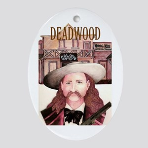 Deadwood Oval Ornament