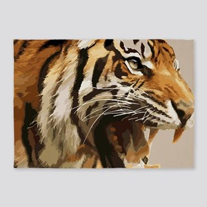 Magnificent Tiger 5'x7'Area Rug