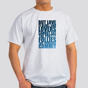 Shakespeare Love Quote Ash Grey T-Shirt
