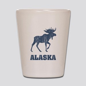 Retro Alaska Moose Shot Glass