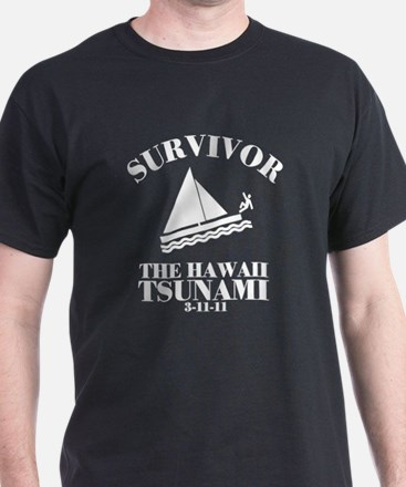 Cute I survived the hawaii tsunami T-Shirt