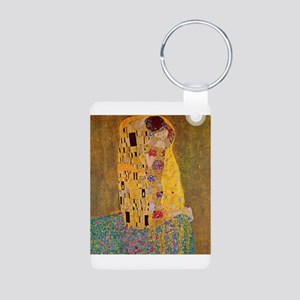 The Kiss by Klimt Aluminum Photo Keychain