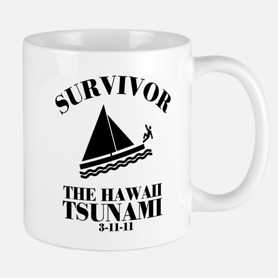 Unique I survived the hawaii tsunami Mug