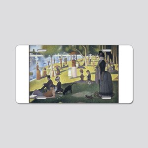 Island of La Grande Jatte Aluminum License Plate