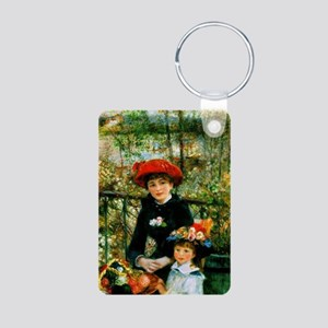 Renoir Two Sisters Aluminum Photo Keychain