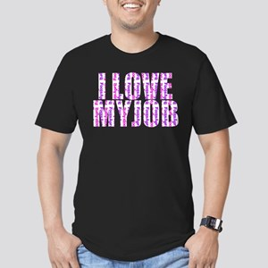 I Love My Job Men's Fitted T-Shirt (dark)