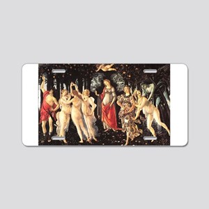 Primavera by Botticelli Aluminum License Plate