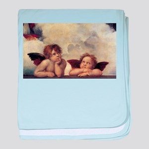 Raphael's Angels baby blanket
