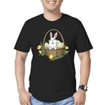 Easter Bunny Cute Pock Men's Fitted T-Shirt (dark)
