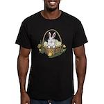 Pocket Easter Bunny Men's Fitted T-Shirt (dark)