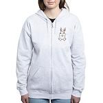 Pocket Easter Bunny Women's Zip Hoodie