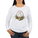 Pocket Easter Bunny Women's Long Sleeve T-Shirt