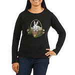 Pocket Easter Bun Women's Long Sleeve Dark T-Shirt