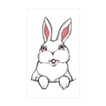 Easter Bunny Cute Pocket Sticker (Rectangle 50 pk)