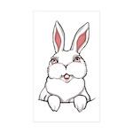Easter Bunny Sticker (Rectangle 50 pk)
